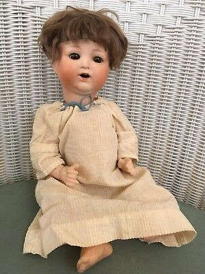 "Antique Nippon RE Character Baby Doll 14"" Bisque Head Composition Body"