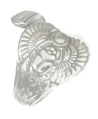 Scarab Wings Egyptian Resurrection Vintage Sterling Silver Spoon Ring Size 8.2