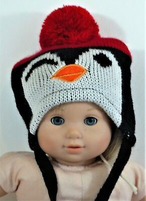 Hat Penguin For Bitty Baby American Girl Or Any 18 In Dolls Clothes Accessories