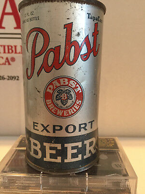Pabst Export opening inst flat top beer can Premier-Pabst Corp Milwaukee Peoria