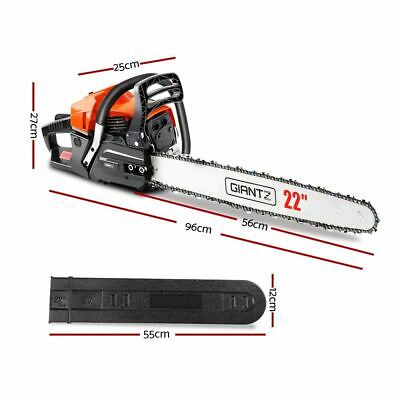 2-Stroke Commercial Grade Petrol Arborist Chainsaw Trunks Tree Cutting Pruning