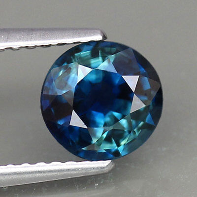 1.49ct.NORMAL HEATED! ROUND SHAPE 100%NATURAL GREEN BLUE SAPPHIRE GEMSTONE