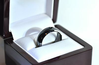 Onyx Colour Tungsten Engagement Wedding Ring Made in USA