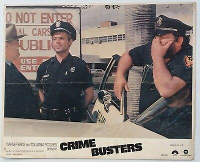 Crime Busters 1979 Original Us Movie Lobby Card Size -8X10 Inch