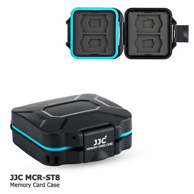 JJC Water-resistant Memory Card Case Holder fit 4 SD SDHC SDXC + 4 Micro SD Card