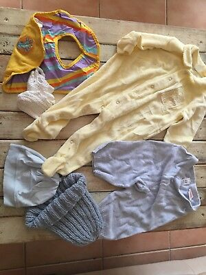 Bundle. Pack Baby Clothes. Size 6 Months. Made In France Yellow Jumpsuit.