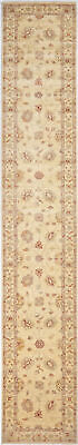 Traditional Hand Knotted Chobi Runner Area Rug Beige Color Turkish Rugs (2.5x16)