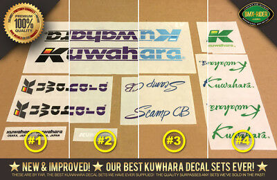 1985 NEW Kuwahara LASERLITE BMX Decal Stickers All Colors Factory Correct!