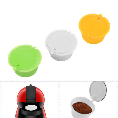 3pcs Dolce Gusto Refillable Reusable Coffee Capsule Pods Cup  For All Nescafe AU