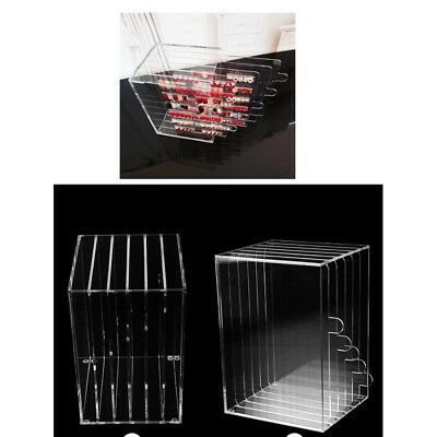 Nail Art Tip Box Storage Acrylic Nail Display Stand Rack Practice Salon Tool