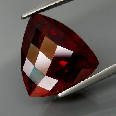 14.99Ct.Outstanding Color Natural BIG Red Spessartite Garnet Fancy Checkerboard