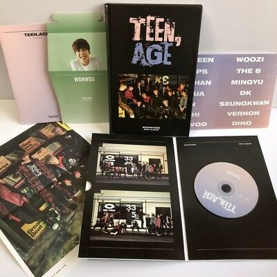 SEVENTEEN TEEN AGE 2nd Album CD+Photo Book+Sticker+Stand+Poster Free Shipping