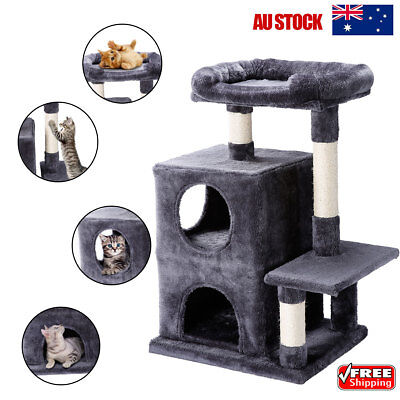 82cm Cat Scratching Tree Scratcher Post Pole Condo Kitten Play House Furniture