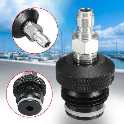 """Aluminum Paintball 1/8"""" NPT ASA To Remote Adaptor W/ Male Quick Disconnect Plug"""