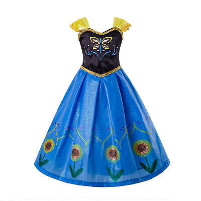 Frozen Girls Cosplay Costume Princess Toddler Fancy Dress Party Outfits Age 3-7