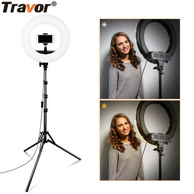 12inch LED Ring Light Dimmable 3200K-5500K Continuous Lighting Photo Video Kits