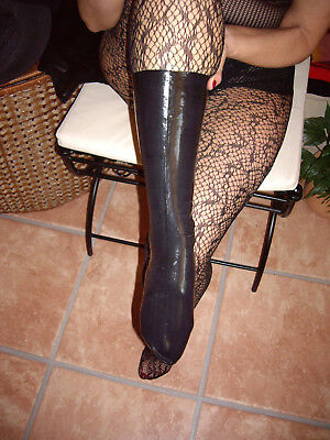 Latex Socken Gr L NEU Rubber Latexsockene schwarz Black Domina Fetish