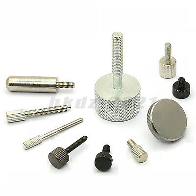 M2.5/3/4/6/8 PC Computer Case Thumb Screw Knurled  Hand Grip Knob Bolt Toolless