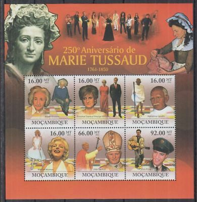 V598. Mozambique - MNH - 2011 - Famous People - Marie Tussaud - Art