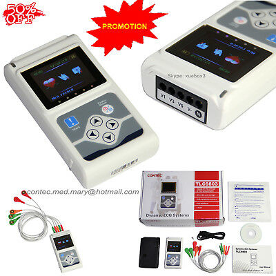 NEW CE  Handheld 3 Channel ECG/EKG Holter Recorder Monitor System Software Hot