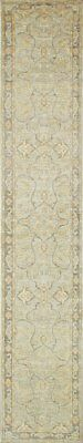 Traditional Hand Knotted Chobi Runner Area Rug Grey Color 100% Wool Rug (2.5x14)