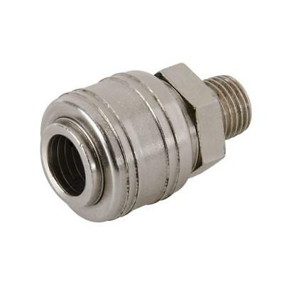 Silverline 237552 Euro Air Line Male Thread Quick Coupler 1/4-inch BSP