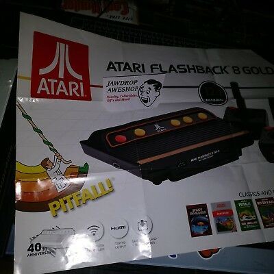 Atari Flashback 8 Gold Poster Only 40th Anniversary Hd Hdmi Game Console
