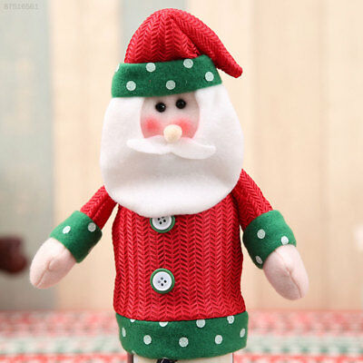 0987 Christmas Wine Bottle Cover Snowman Home Party Dinner Table Bag Decoration