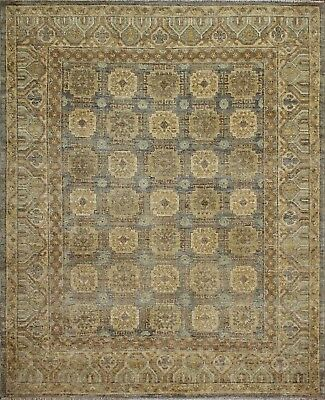 Traditional Hand Knotted Farhan Area Rug Grey/Ivory Color Persian Rugs (6.5 x 8)