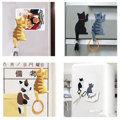 E9B0 Cat Tail Hanging Hooks Hangers Rack Home Garden Kitchen House Decals Gift
