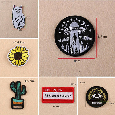 455D Sewing Patches Trim Art Apparel Accessories Sew on Craft Clothes Cute