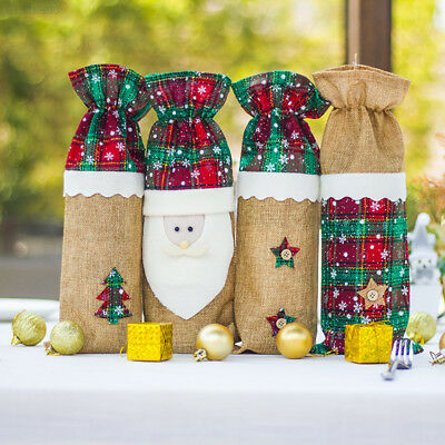 E8AE Red Wine Suit Party Supplies Festival Christmas Tree Santa Claus