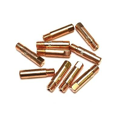 MB15 (M6) MIG Welding Contact Tips - (Pack of 10) - 0.8mm