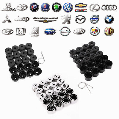 17mm Nut Bolt Covers Caps Round for VW Golf, Bora, Passat, Alloy Wheel