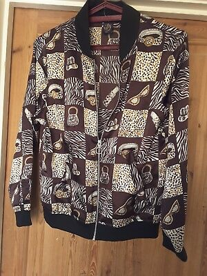 A Fab Vintage Beyond Retro Brown Bomber Jacket approx 40 ins chest #festivals