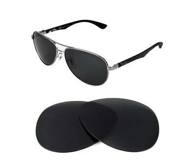 ab178ea2e6743 New Polarized Black Replacement Lens Fit Ray Ban Rb3526 61Mm Sunglasses