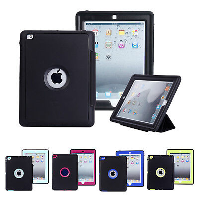 Heavy Shockproof Leather Smart Stand Lot Case Cover for iPad 2 3 4 Mini Air 2