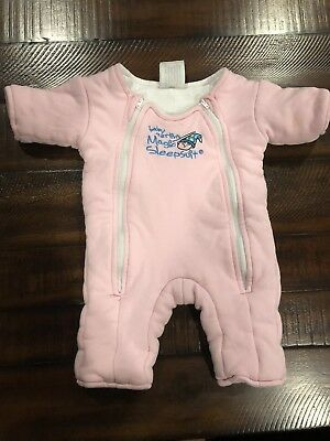Baby Merlin's Magic Sleepsuit Cotton Small 3-6 Months Pink