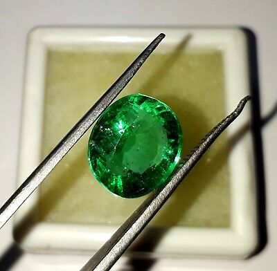 5.20 Cts Natural Colombian Emerald Untreated Oval Cut Loose Gemstone