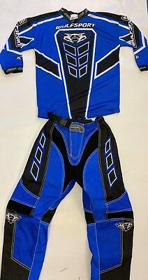 """Wulfsport Axium Cub Blue Kit 2019 Special Edition 5-7 Years Shirt & 24"""" Pants"""