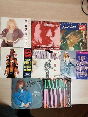 "Vinyl Records 7"" Collection Of 8 Mixed Genres + singles Job Lot."