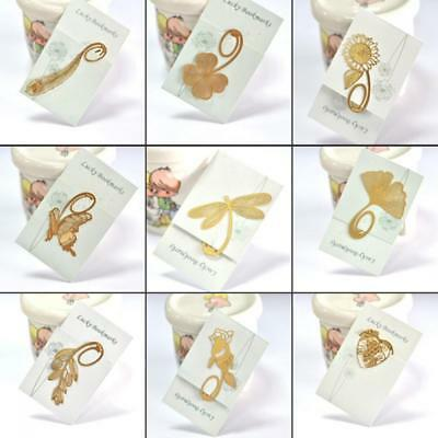 Novelty Stationery Magazine Gold Label Note Pad Memo Metal Bookmark Book Clip