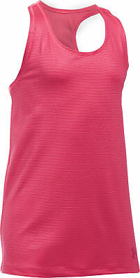 Under Armour Womens/Girls Sports Tank Top Pink Size Youth Medium New with Tags