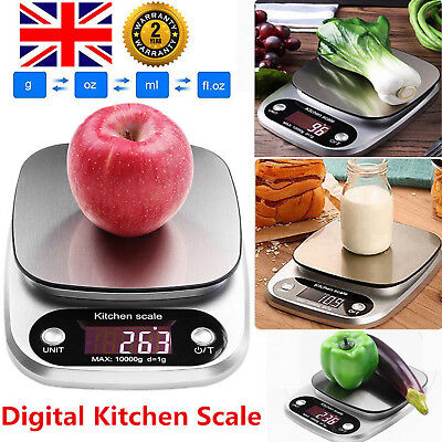 10Kg/1g Precision Kitchen Scale Digital Kitchen Scales LCD Display Food Jewelry