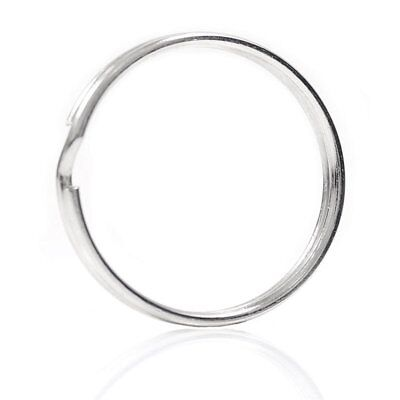 10X Quality 50Mm Keyring Split Ring Set Heavy Duty Large Nickel Key Loop Sp T3O5