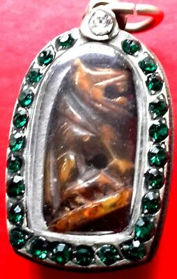 Magic Tiger Carved  Kaewsua Lp Parn Wat Bang Hai,powerful Talisman Pendant