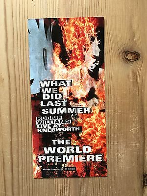 Robbie Williams 2003 What We Did Last Summer Flyer 01