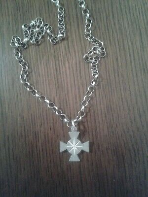 Metal Detector Find Solid Silver Belcher Chain With Cross
