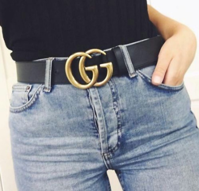 """Womens Genuine Leather Belts For Jeans Belt For Women's Pants """"GG"""" Best Quality"""