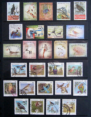 BOTSWANA Birds. Good selection of stamps to high values. Used